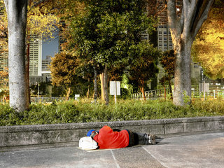 Tokyo, Shinjuku, homeless people